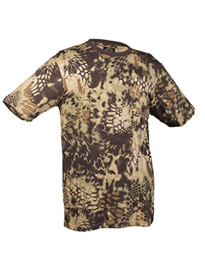 Mil-Tec US Army T-Shirt Camouflage léger (Mandra Wood/M)