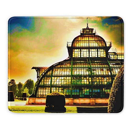Austria Palm House Viena Schönbrunn Alfombrilla de ratón Regalo de Recuerdo 7,9 x 9,5 pulg. Almohadilla de Goma de 3 mm