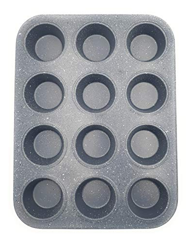12 Cup Muffin Tray Non-Stick | Muffin Tray to Make cupcakes, Yorkshire Pudding and Baking. (1)