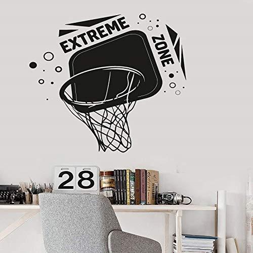 Baloncesto Slam Dunk Slam Dunk etiqueta de la pared aficionado al baloncesto deportes niño habitación escuela decoración de la pared pegatina cartel A6 43x42cm