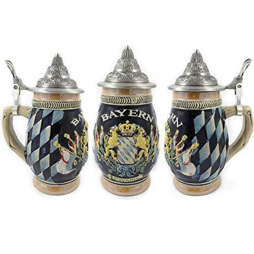 Exclusiv Beerstein Jarra Decorativa de Cerveza Alemana Ceramica Bayern Bavaria 180 ml