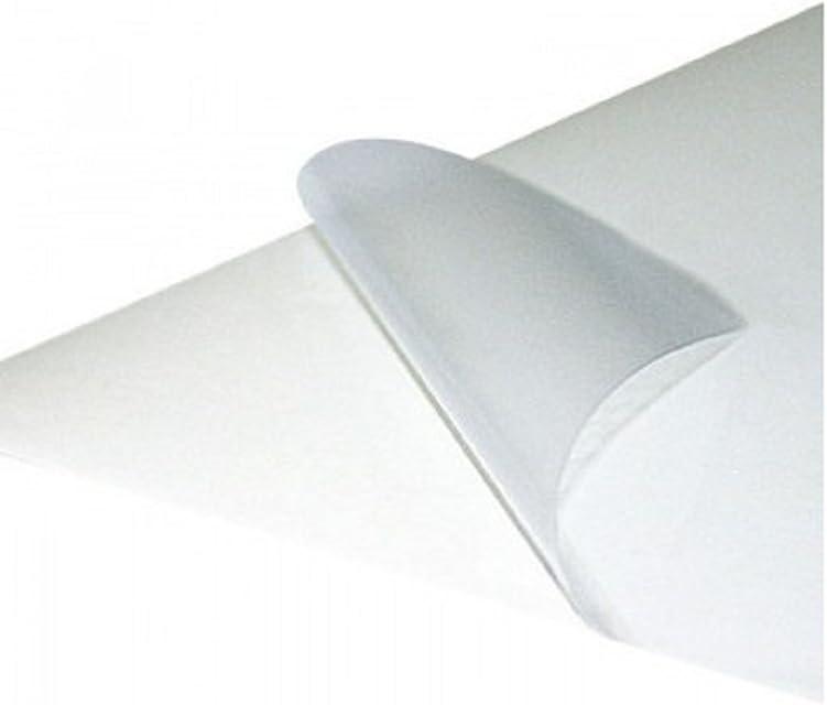 Papel adhesivo transparente. impresión láser 30 hojas a4