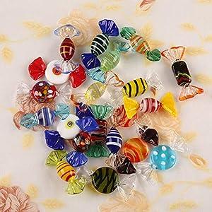 Uteruik 15 Unidades de Dulces de Cristal de Murano Vintage para Bodas, Navidad, Fiestas, Dulces, Decoraciones, Regalo