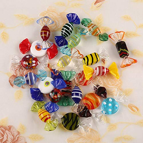 Uteruik 15PCS Vintage in Vetro di Murano Dolci Wedding Xmas Party Candy Decorations Gift