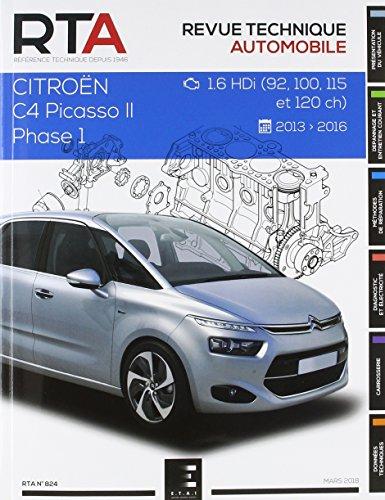 E.T.A.I - Revue Technique Automobile 824 - CITROEN C4 PICASSO II - B78 PHASE 1 - 2013 à 2017