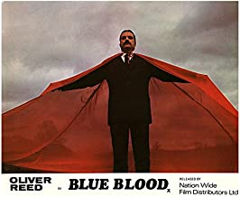 Blue Blood Original Lobby Card Oliver Reed Portrait in Red Cape