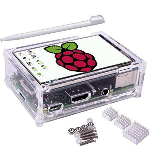 ILS - 3.5 inch TFT LCD Touch Screen + Protective Case Custodia + Heatsink+ Touch Pen Kit per Raspberry Pi 3/2/Model
