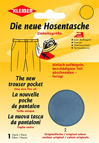 Kleiber + Co.GmbH Quick-Ersatzhosentasche, Grau, 23 cm x 18,5 cm