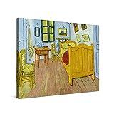 PICANOVA – Vincent Van Gogh Vincent's Bedroom 100x75cm – Cuadro sobre Lienzo – Impresión En Lienzo Montado sobre Marco De Madera (2cm) – Disponible En Varios Tamaños