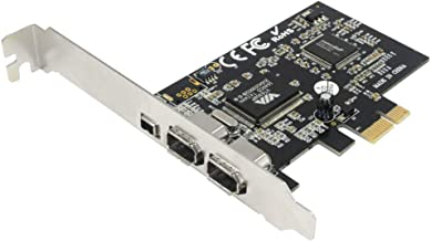GODSHARK PCIe 3 Ports 1394A Firewire Expansion Card, PCI Express (1X) to External IEEE 1394 Adapter Controller (2 x 6 Pin + 1 x 4 Pin) for Desktop PC and DV Connection
