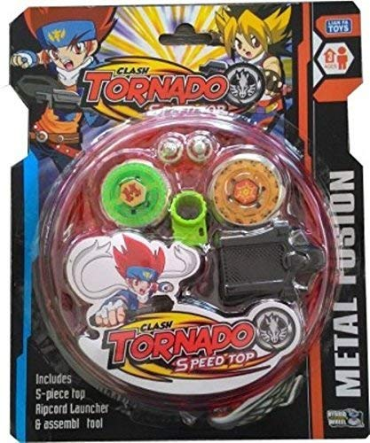 VAIDUE Metal Fusion Spinning Top for Kids Beyblade with Beautiful Design and Multicolor Girls Boys Metal ripchord Launcher Fighter Fury Fight Ring Handle Launcher (8D Beyblade)