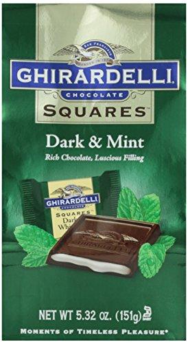 Squares*Dark & Mint*GHIRARDELLI*151g*MINT FÜLLUNG*