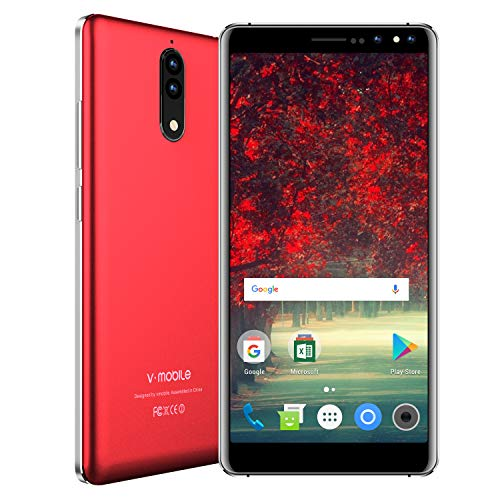 V Mobile N8,Unlocked Smart Phone,5.5 Inch,16GB ROM, 8MP+5MP Camera,Dual SIM,2800mAh Battery,Quad-core,Android 7.0,3G Unlocked Cell Phones Support AT&T and T-Mobile.