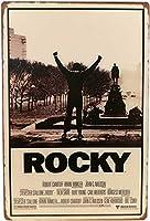 アメリカ雑貨 ブリキ看板 屋内用 ヴィンテージ風 レトロ風 雑貨 ロッキー Rocky シルベスター・スタローン インテリア 壁飾り おしゃれ