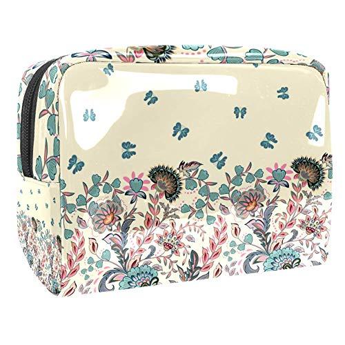 Trousse de toilette multifonction pour femme - Rose/fleur/papillon