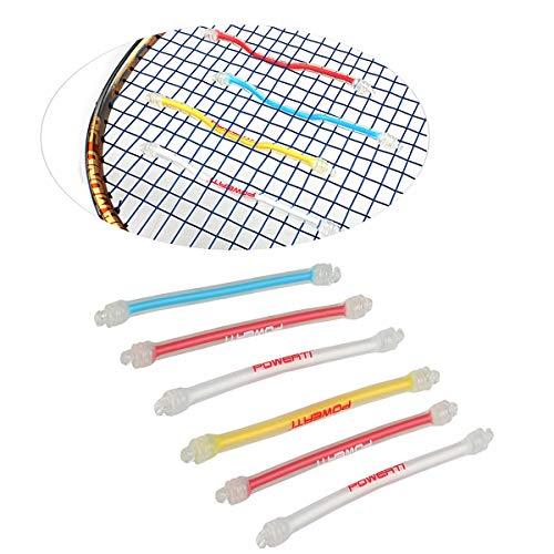Vukayo Long Tennis Racquet Vibration Dampener,6 Pack