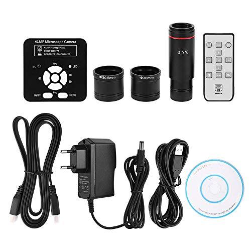 41MP Industrie C-Mount Mikroskop Kamera mit Adapter 0,5X Okular, High Definition Kamera mit High Definition Multimedia Interface USB2.0 mit zwei Ausgängen(110-240V)