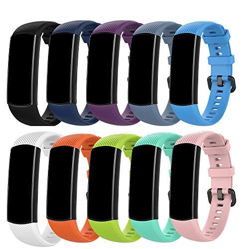MAKACTUA Compatible con Honor Band 5 Cinturini Honor Band 5 Cinturini Braccialetto di Ricambio Polso Cinturino di Ricambio per Smartwatch Honor Band 5 (10 Colore)