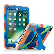 iPad Pro 9.7 Case Exquisite Soft Silicone Case with Adjustable Kickstand for iPad Pro 9.7inch (Colorful Blue)