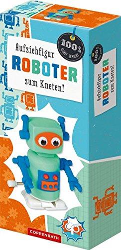 Aufziehfiguren zum Kneten: Eule, Pinguin, Roboter, Dinosaurier (100% selbst gemacht)