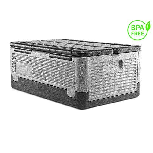 Lisk. Flip Box Grizzly Big 39l - Große, isolierte & Faltbare Thermobox aus hochwertigem EPP für Essen, Einkäufe, Ausflüge & zum Transport im Auto