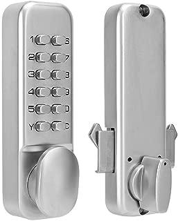 Digital Mechanical Password Door Lock, Sliding Door Password Lock 1-11 Digit Combination Door Latch for Kitchen Balcony Push Button Keypad Door Lock Knob for Home Security (#1)