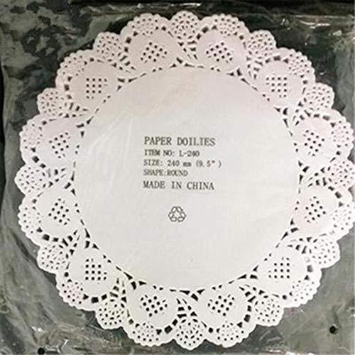 100 stks diameter 11.4-26.7 cm wit rond papier kant kleedjes papier cake placemat bakvormen decoratie creative craft servetten, 240mm