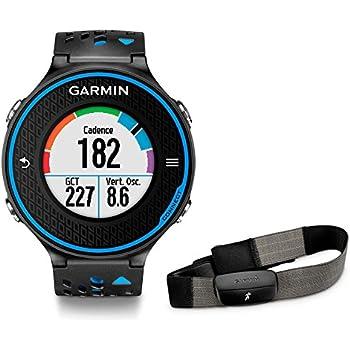 Garmin Forerunner 620 HRM - Reloj de carrera con GPS con pulsómetro, color negro / azul: Amazon.es: Deportes y aire libre