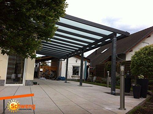 Hochwertige Terrassenüberdachung Schweng Alu 16mm Polycarbonatplatten B: 6,00m x 3,50m T
