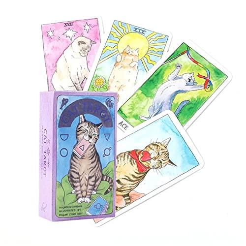 ACCLD Cat Tarot Cards Magic Full English Read Fate Deck Juego de Mesa Familia Jugando Regalo de cumpleaños
