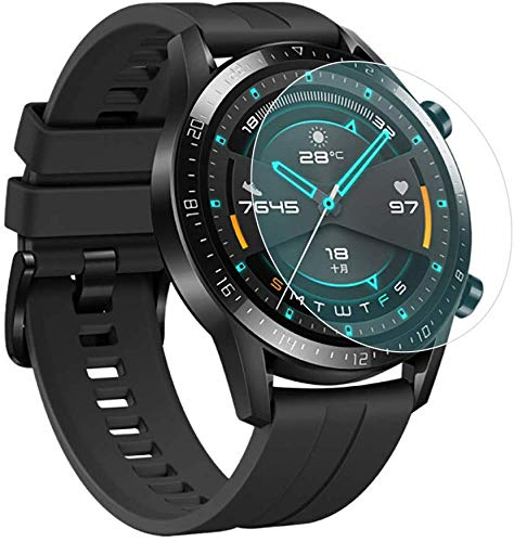 koko Tempered Glass Screen Protector with Curved Edges for Huawei Watch GT 2 (46MM) Sport/Classic