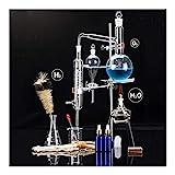 Lchzl 500 ML Distiller Distillation Lab Verrerie de Laboratoire Huile Essentielle Distillation Appareil Distiller Laboratoire de Chimie Verrerie Kit Set