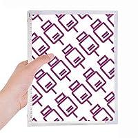 充電パワーパターン 硬質プラスチックルーズリーフノートノート