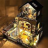 DIY SDIY DollHouse, Love Sea-Villa-Stil, mit LED-Lichtern und Musik, ohne Staubschutz, Passend für...