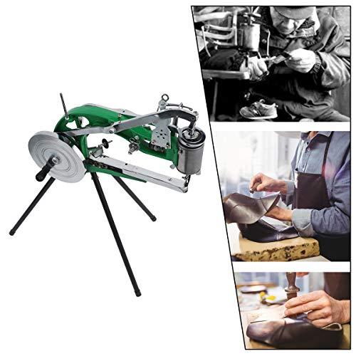 macchina da cucire cuoio Z ZELUS Macchina per Riparazione di Scarpe Manuale per Calzolaio Attrezzi per Taglio del Pattino Linea Doppia in Nylon di Cotone Macchina per Cucire della Scarpa per Borse Pelletteria