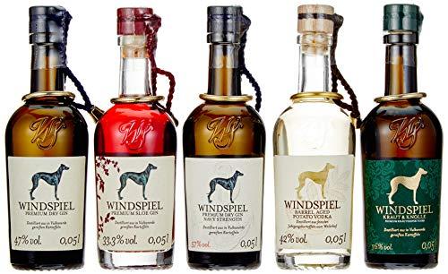 Windspiel Mini Premium Spirituosen Set - Das perfekte Geschenk für Ihn und das perfekte Geschnek für Sie