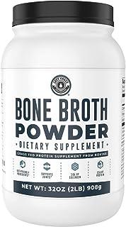 Bone Broth Powder, 2lb Pure Grass Fed Beef Bone Broth Protein Powder. Unflavored, Contains Collagen, Glucosamine & Gelatin...