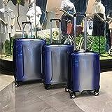 Mdsfe Gradiente de Color Original Equipaje de Viaje Simple PC Ultraligero Trolley Maleta 20/24/29 Pulgadas Caja de embarque consignación Caja TSA - Azul (1 Pieza), 28'