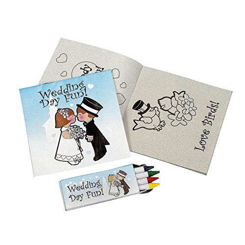 Fun Express Individually Packaged Childrens Wedding Activity Sets (Pack of 24)