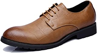Men's Business Oxford Everyday Fashion Hot Style Pointed British Style Conventional Shoes casual shoes (Color : Yellow, Size : 45 EU)