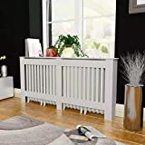 Quisilife MDF Radiator Cover Heating Cabinet White for Home Decorative (Size : E 67.7' x 7.5' x 31.9')