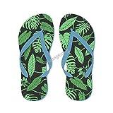 Sandalias de estilo tropical con hojas de Monstera para alberca y piscina, sandalias lindas para hombres y mujeres