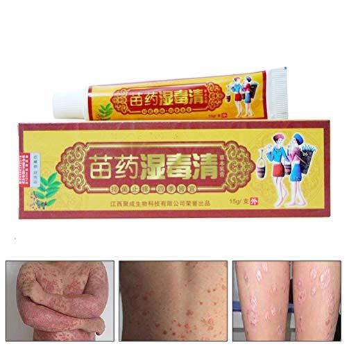 Volking Crema para la Psoriasis en la Piel, Crema contra la picazón, ungüento para la Dermatitis, Eczema y Eczema, Crema para el prurito para el Tratamiento de la Dermatitis, Eczema Que Pica, 15 g