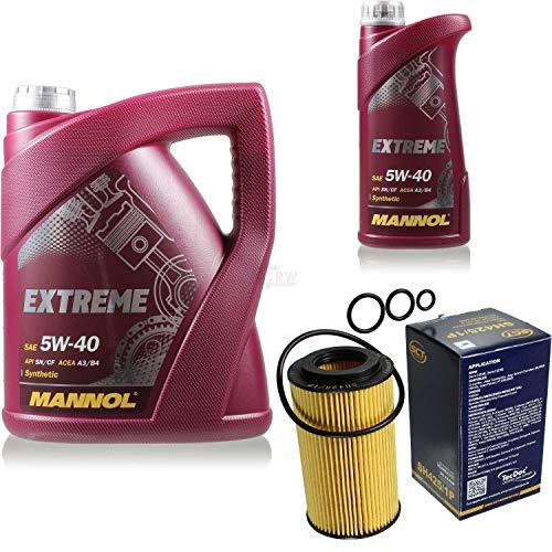 Filter Set Inspektionspaket 6 Liter MANNOL Motoröl Extreme 5W-40 API SN/CF SCT Germany Ölfilter