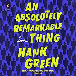 An Absolutely Remarkable Thing audiobook cover art