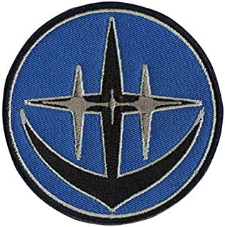 Mobile Suit Gundam Londo Bell Military Patch Fabric Embroidered Badges Patch Tactical Stickers for Clothes with Hook & Loop