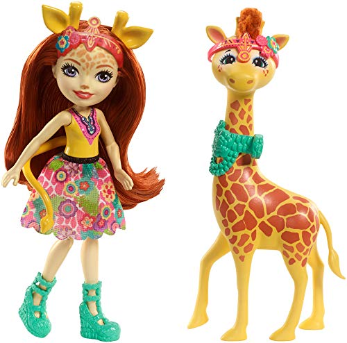 Mattel Enchantimals FKY74 Themenpack Gillian Giraffe, Spiel, Bunt, Única