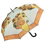 VON LILIENFELD Paraguas Automática Mujer Motivo Arte Floral Vincent Van Gogh: Girasoles