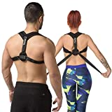 Posture Corrector for Women Men - Premium Best Fully Adjustable Posture Brace - Relief Upper Back Pain - Improve Posture Correct Hunching and Provides Back Support - Posture Trainer - Spine Alignment