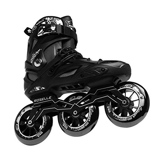 Inline Speed Racing Skates, High Performance Outdoor Roller Skates for Men, JEUWITH 3-Wheel Fitness Inline Skates for Adult and Youth